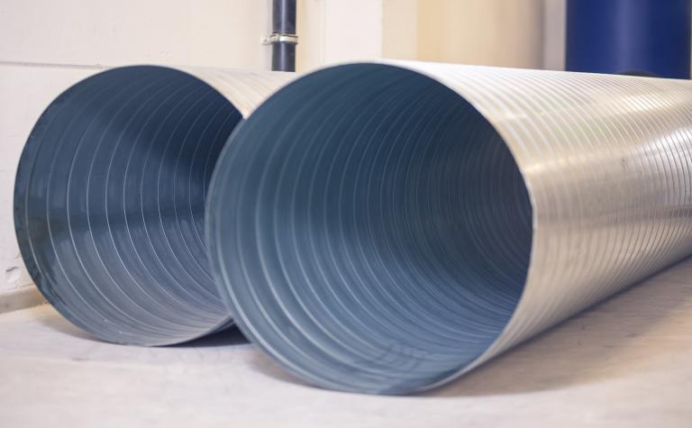 ventilatiekanalen geschikt voor debiet van 9000m³/h